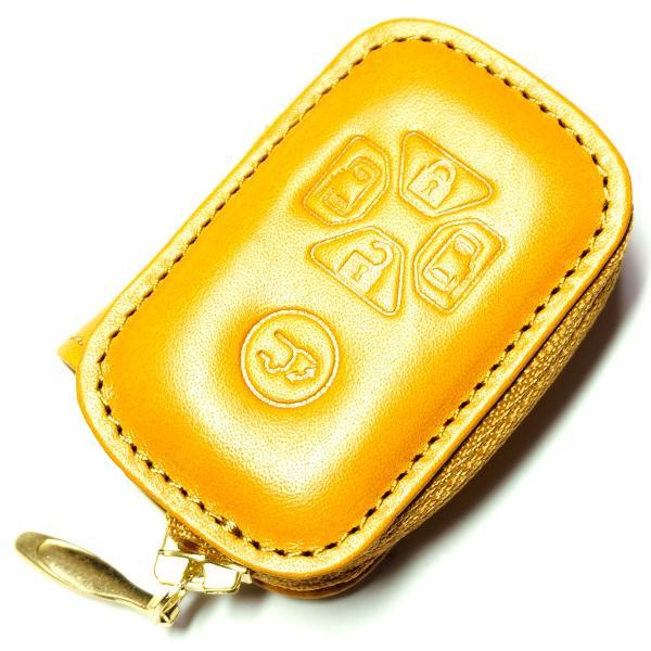 スマートキーケース 本革 トヨタ用 T1タイプ ボタンA SKC-T1 series|l-leather|06