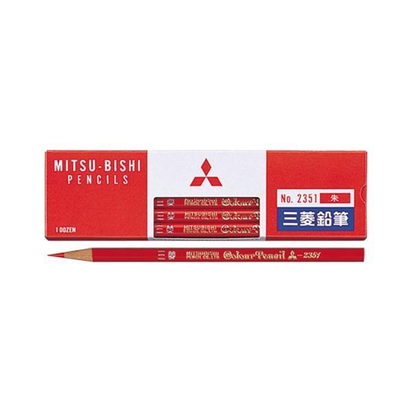 AC-00023410 三菱鉛筆 赤鉛筆(朱)2351 (12本入)K2351
