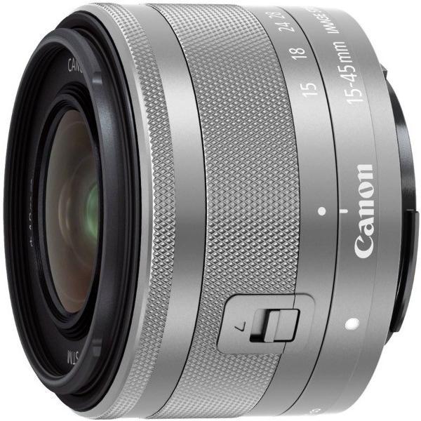 キヤノン Canon EF-M15-45mm F3.5-6.3 IS STM [シルバー] ズームレンズ  新品 国内正規品