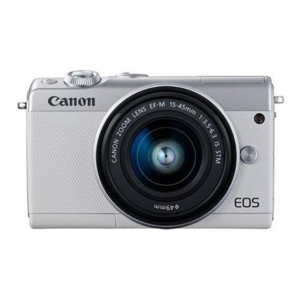 キャノン Canon EOS M100 EF-M15-45 IS STM レンズキット ホワイト 一眼レフカメラ 新品 国内正規品 ダブルズームレンズキット化粧箱