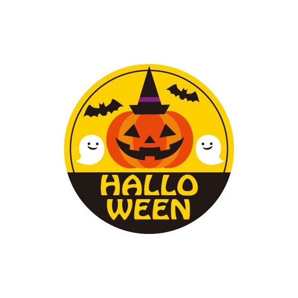 「HALLO WEEN」シール200枚(40φmm)|labelseal