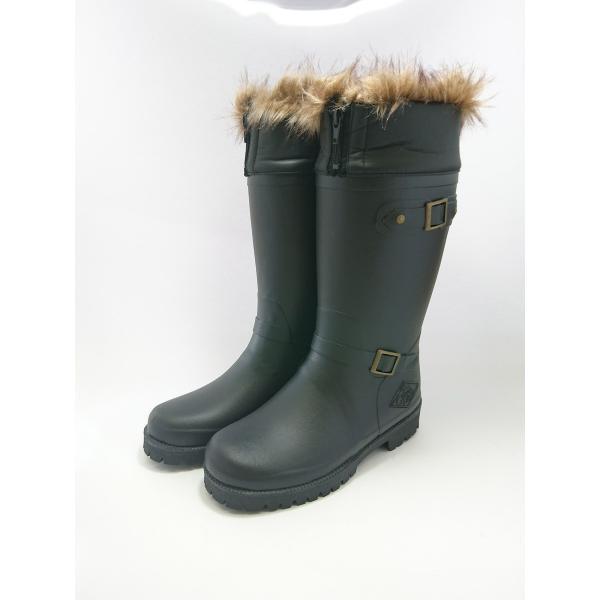 ミツウマ レディース メンズ おしゃれな防寒長靴 寒冷地 スノーブーツ グリーンフィールド Gフィールド60 クロ