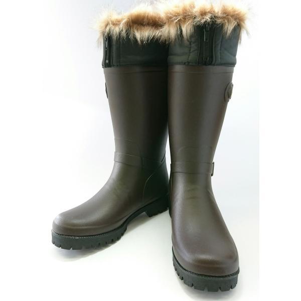 ミツウマ レディース メンズ おしゃれな防寒長靴 寒冷地 スノーブーツ グリーンフィールド Gフィールド60 ブラウン