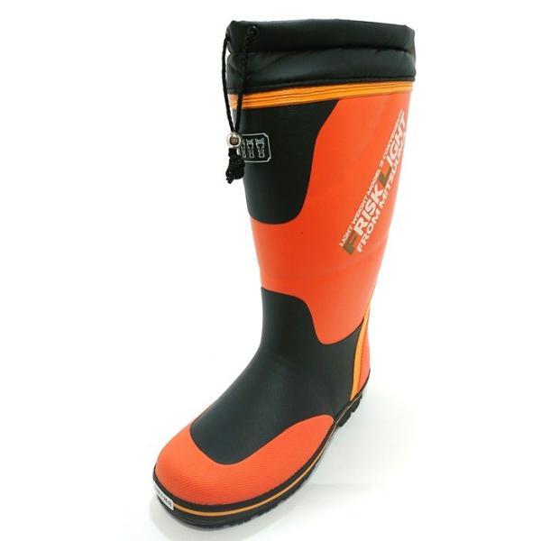 【セール品】三馬 ミツウマ メンズ 紳士 防寒長靴 レインブーツ 寒冷地仕様 太型 フリスクライト31MUCE オレンジ|laber