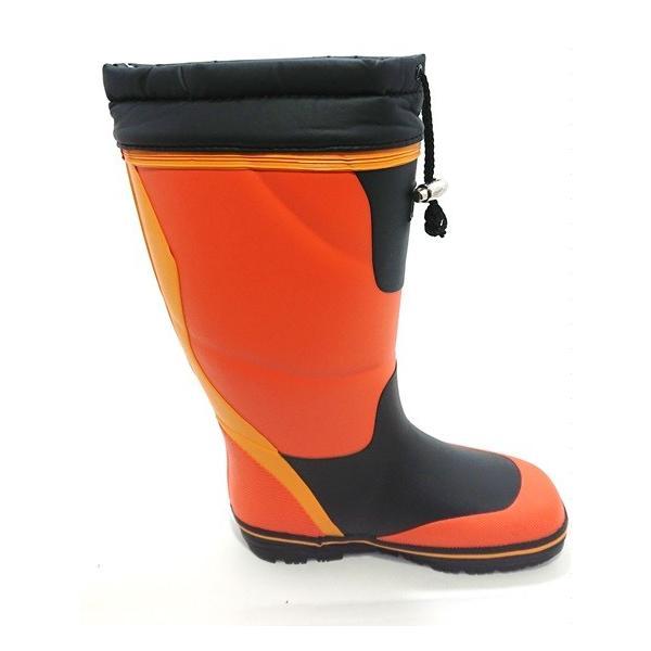 【セール品】三馬 ミツウマ メンズ 紳士 防寒長靴 レインブーツ 寒冷地仕様 太型 フリスクライト31MUCE オレンジ|laber|02