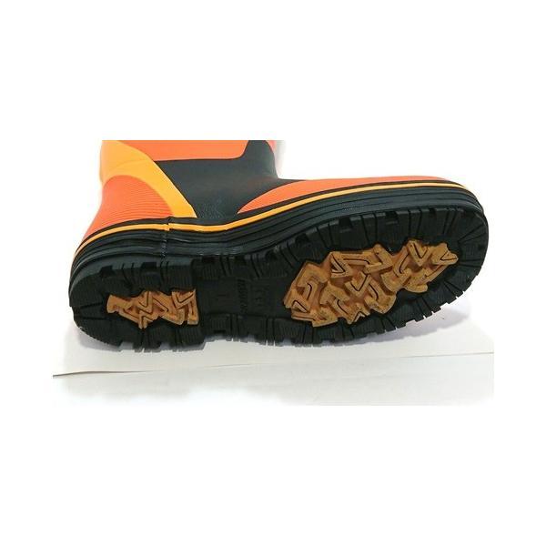 【セール品】三馬 ミツウマ メンズ 紳士 防寒長靴 レインブーツ 寒冷地仕様 太型 フリスクライト31MUCE オレンジ|laber|05