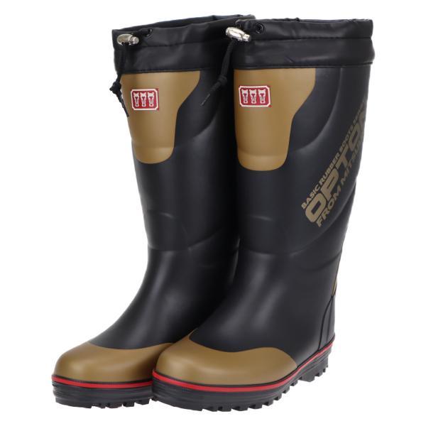 ミツウマ 防寒長靴 メンズ 男性用 滑りにくい レインブーツ 寒冷地仕様 冬 雪 オプトン2019 ブラック