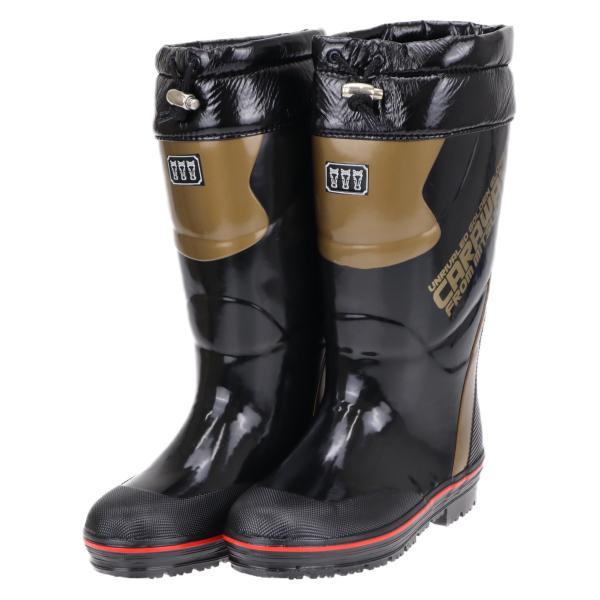 ミツウマ メンズ 滑らない 防寒長靴 寒冷地仕様 レインブーツ スノーブーツ 雪 冬 キャラウェイ2018 ブラック