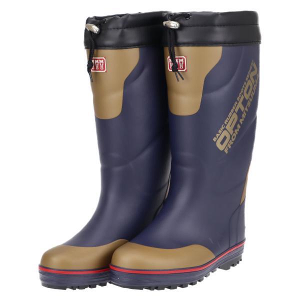 ミツウマ メンズ 男性用 冬用 滑りにくい 防寒長靴 レインブーツ 寒冷地仕様 冬 雪 オプトン2019  コン