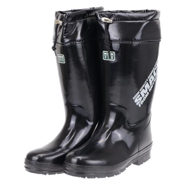 【セール品】ミツウマ メンズ 紳士 防寒長靴 冬 雪 寒冷地仕様 レインブーツ 滑りにくい スマック2020 ブラック