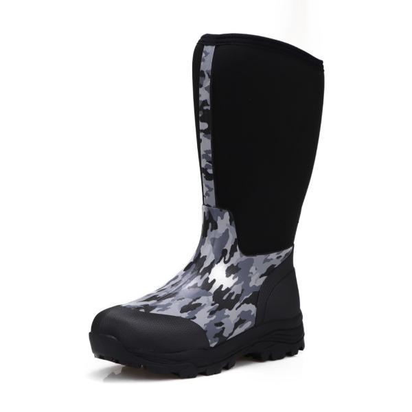 ミツウマ メンズ 紳士 男性用 滑りにくい 防寒長靴 冬用 寒冷地仕様 ネオプレン素材仕様 レインブーツ 迷彩柄 シーザーウルフ2036MU カモフラ