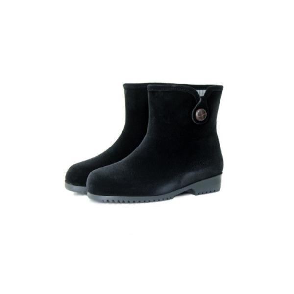 ミツウマ レディース 軽量 滑りにくい 暖かい 防寒靴 ショート丈 スノーブーツ エメロード830 クロ
