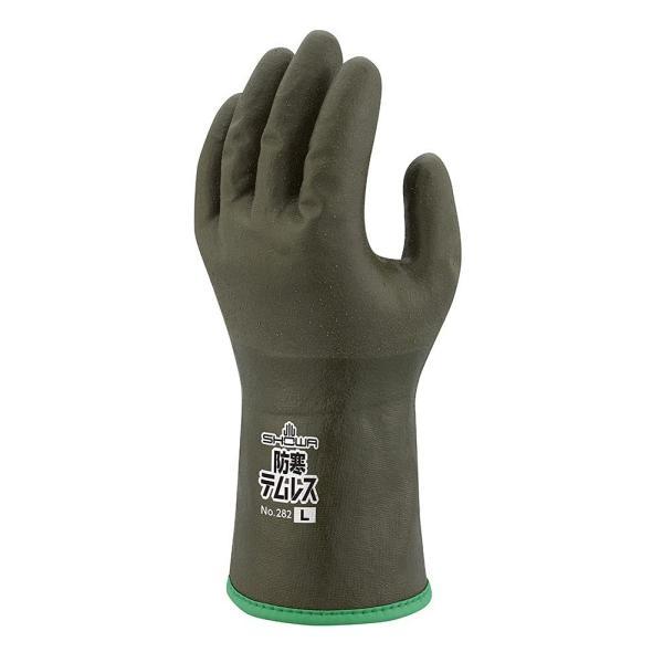 【1双入販売 】ショーワグローブ 作業用防寒手袋 軽量 保温性抜群 裏起毛タイプ 防寒テムレス282 オリーブグリーン