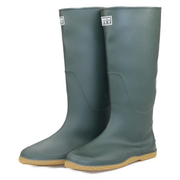 ミツウマ 長靴 レディース メンズ レインブーツ  パッカブル ガーデニング 田植 農作業  ベールノース7030 カーキ