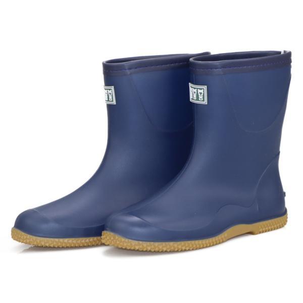 ミツウマ 園芸 ガーデニング 農作業用 メンズ レディース パッカブル 長靴 ブーツ 男女兼用 ベールノース7050 ネイビー
