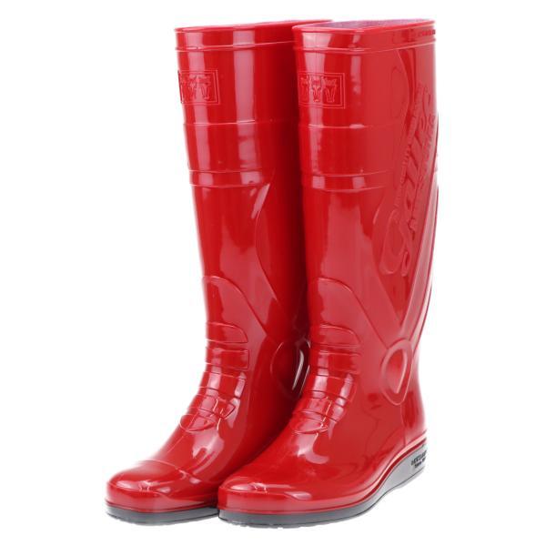 ミツウマ 三馬 耐油 PVCブーツ レインブーツ 長靴 メンズ 紳士 男性用 滑りにくい ギャレック7070 レッド