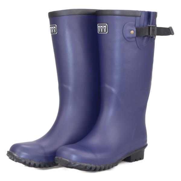ミツウマ レディース メンズ レインブーツ 長靴 農作業 田植え 作業  ベールノース7 ネイビー