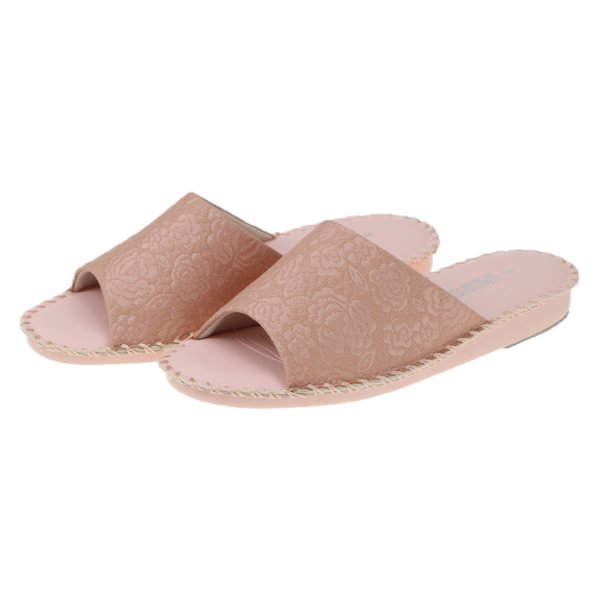 pansyパンジーレディースサンダル女性用婦人用スリッパルームシューズ靴花柄室内履き部屋履き8691ピンク