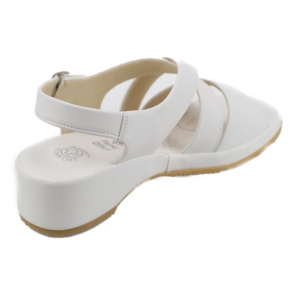 pansy パンジー レディース 婦人 オフィスサンダル 疲れない 履きやすい 仕事 事務所履き BB5302 ホワイト