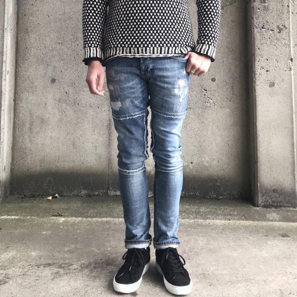 ヌーディージーンズ nudie jeans デニム ダメージ GRIM TIM - KURT REPLICA - 44161-1110|labo04onlineshop