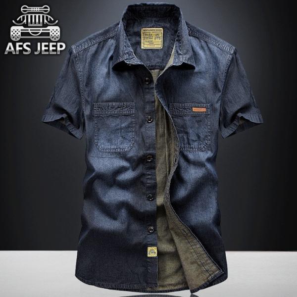 シャツ メンズ カジュアルシャツ メンズ 半袖 無地トップス デニムシャツ 薄て 大きいサイズ ストレッチ アメカジ M〜3XL 送料無料特価販売中|labu
