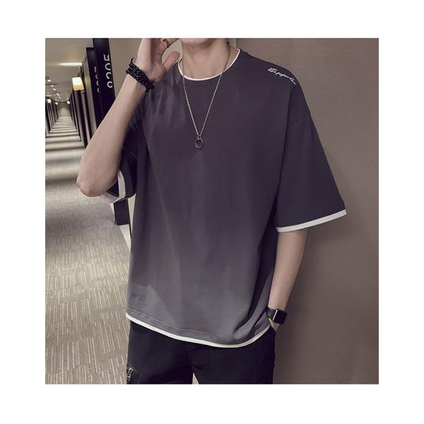Tシャツ メンズ 半袖 トップス 無地 カットソー Tシャツ 五分丈 カジュアル おしゃれ シンプル 大きいサイズ 2019夏新作|labu|20