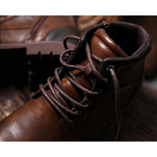 ワークブーツ メンズ ショートブーツ ハイカット レースアップシューズ メンズ靴 エンジニアーツ 大きいサイズ 歩きやすい 2019秋冬新作|labu|11