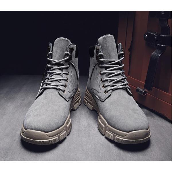 ワークブーツ メンズ ショートブーツ ハイカット レースアップシューズ メンズ靴 エンジニアーツ 大きいサイズ 歩きやすい 2019秋冬新作|labu|13