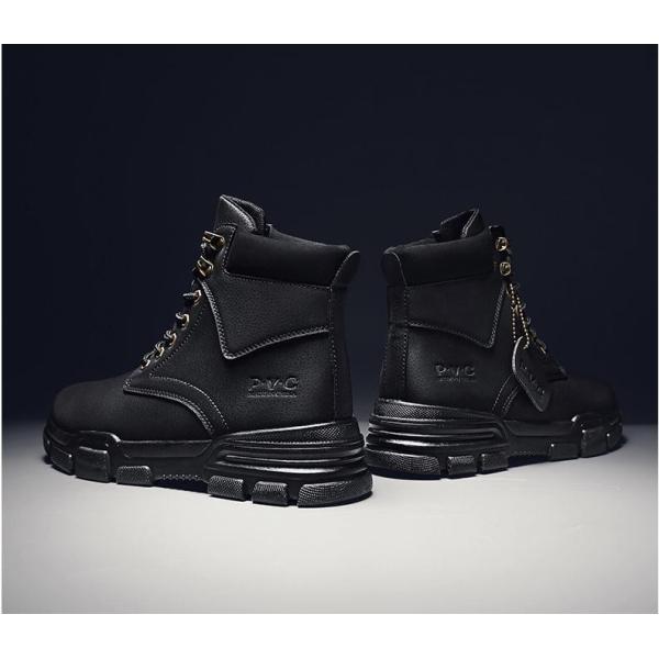 ワークブーツ メンズ ショートブーツ ハイカット レースアップシューズ メンズ靴 エンジニアーツ 大きいサイズ 歩きやすい 2019秋冬新作|labu|14