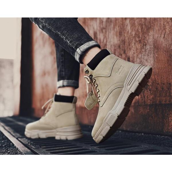 ワークブーツ メンズ ショートブーツ ハイカット レースアップシューズ メンズ靴 エンジニアーツ 大きいサイズ 歩きやすい 2019秋冬新作|labu|06