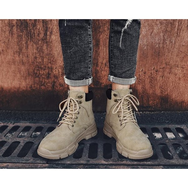 ワークブーツ メンズ ショートブーツ ハイカット レースアップシューズ メンズ靴 エンジニアーツ 大きいサイズ 歩きやすい 2019秋冬新作|labu|07