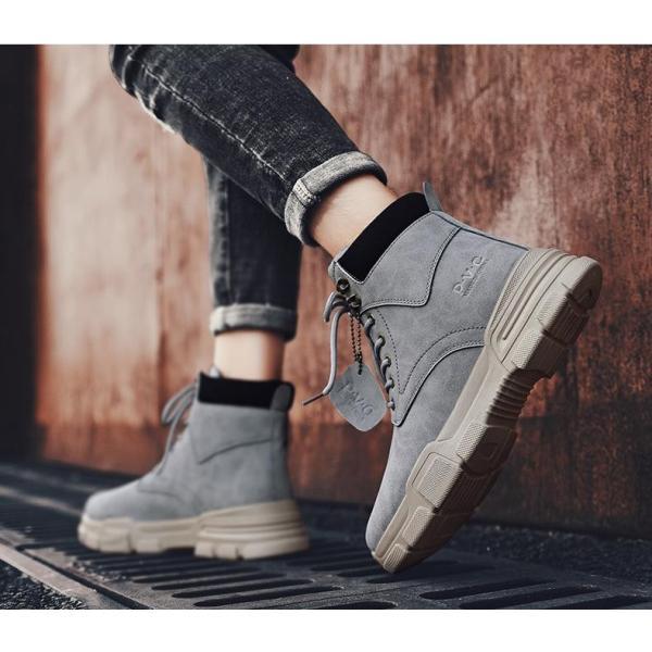 ワークブーツ メンズ ショートブーツ ハイカット レースアップシューズ メンズ靴 エンジニアーツ 大きいサイズ 歩きやすい 2019秋冬新作|labu|10