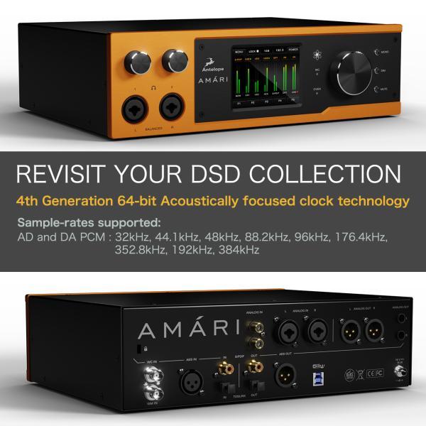到着、在庫あり! Antelope Audio アンテロープ オーディオ AMARI 高性能DAC ヘッドフォン アンプ|lacasaacustica|04