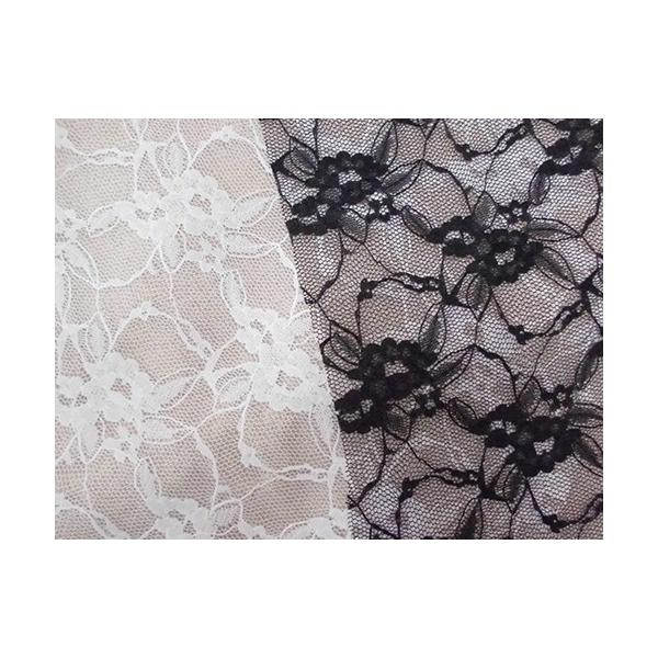 花柄ラッセルレース生地(ポリエステル) インテリア カフェカーテン ウェディングドレス スカートなど|laceya