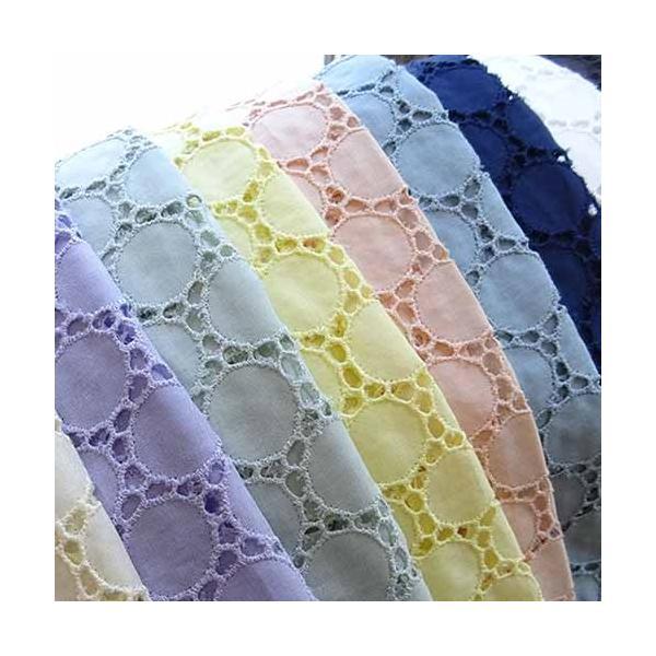 綿サークル柄カットワークレース生地 布 北欧風 ハワイアン トップス ワンピース カーテン スカート 衣装 刺繍無地|laceya
