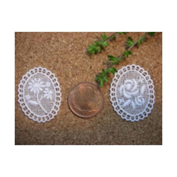 綿刺繍花柄モチーフ(デイジー/バラ)|laceya