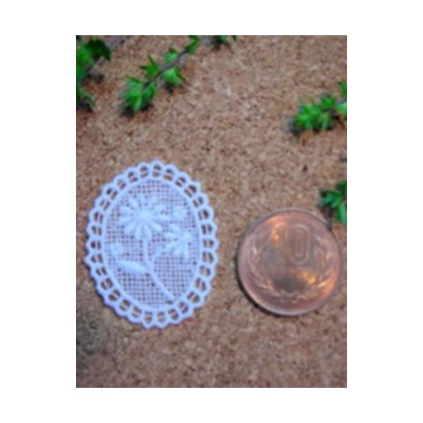 綿刺繍花柄モチーフ(デイジー/バラ)|laceya|02
