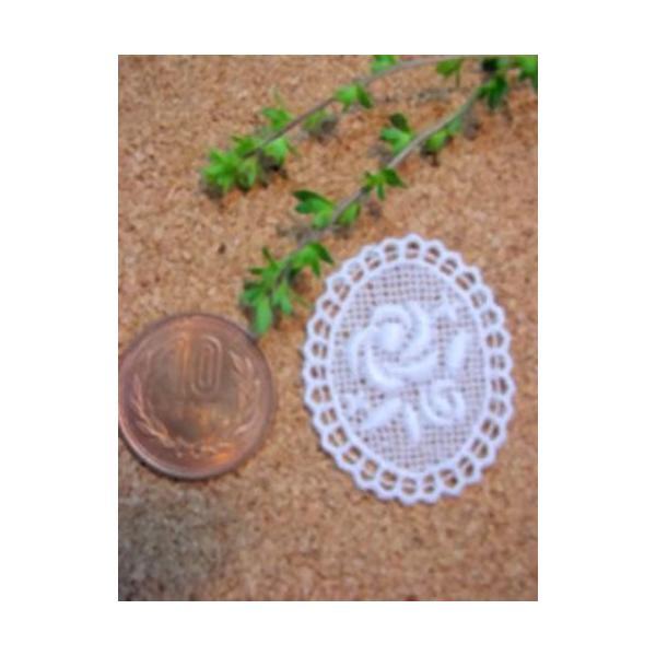 綿刺繍花柄モチーフ(デイジー/バラ)|laceya|03