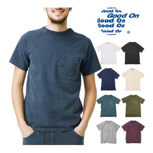 Good On グッドオン HEAVY RAGLAN POCKET TEE  9oz ショートスリーブヘビーラグランポケットTシャツ GOST1101 ホワイト ブラック他