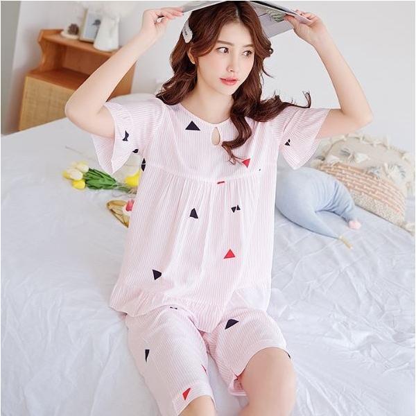 ストライプ半袖パジャマ