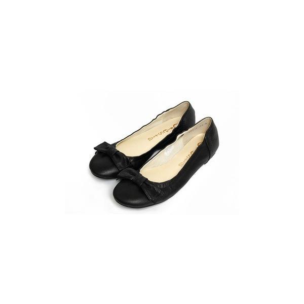 小さいサイズ パンプス 20.5cm 21cm 21.5cm センチ バレエシューズ ヒール1cm ワイズ 3E レディース靴 婦人靴 本革 ぺたんこ