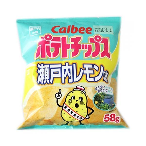 カルビー ポテトチップス 瀬戸内レモン味 58g×12個※取り寄せ商品 返品不可