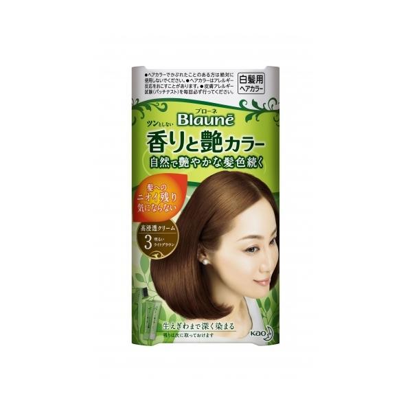【医薬部外品】ブローネ 香りと艶カラー 濃厚クリーム 3 明るいライトブラウン【当日つく香川】|ladygokagawa