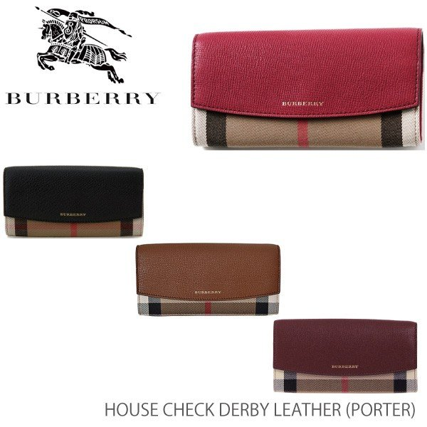 f892668c2607 【BURBERRY-バーバリー】PORTER House Check Derby Leather [レディース 長財布]| ...
