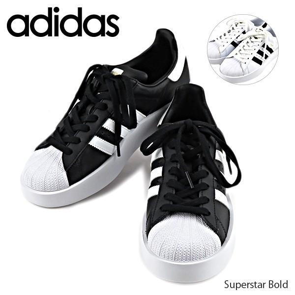アディダス adidas スニーカー 靴 レディース BA7666/BA7667 スーパースター Superstar Bold W|lag-onlinestore