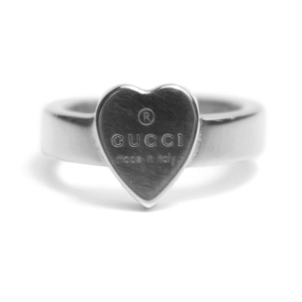 2018 『GUCCI-グッチ-』 TRADEMARK heart motif in sterling silver 223867 J8400 8106《返品交換不可》