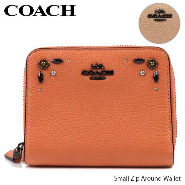 COACH コーチ Small Zip Around Wallet スモール ジップ アラウンド プレーリー リベット 二つ折り財布 レディース 29689 DKDJM DKEQO