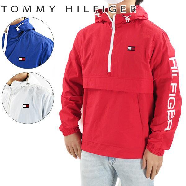 TOMMY HILFIGER トミーヒルフィガー ナイロンプルオーバー アノラックパーカー 防水 防風 ロゴ 長袖 メンズ 158AN438
