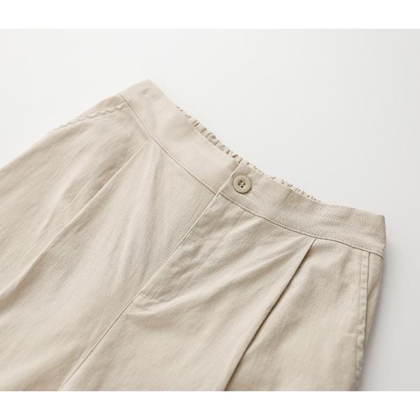 ワイドパンツ ガウチョウパンツ リネン レディースファッション ボトムス 体型カバー 【9892-na47f】【即納:2-5日】メ込|lagemme|17