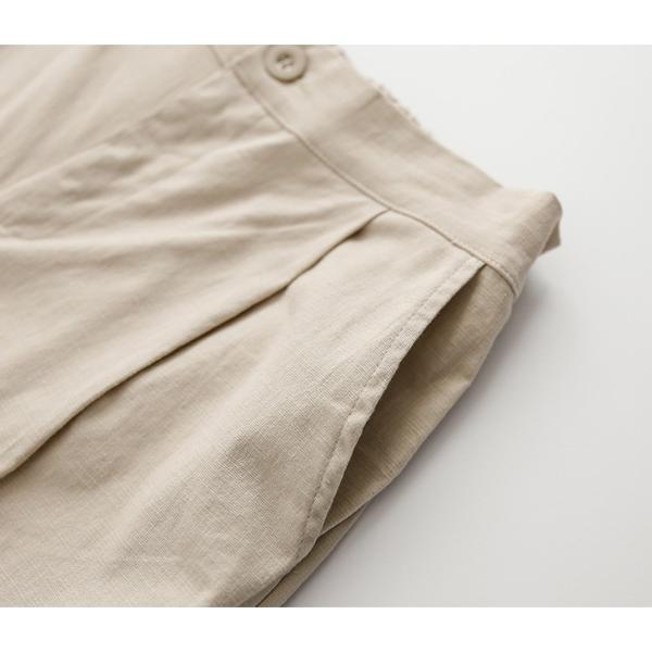 ワイドパンツ ガウチョウパンツ リネン レディースファッション ボトムス 体型カバー 【9892-na47f】【即納:2-5日】メ込|lagemme|19